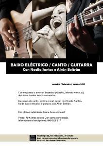 cartel BAIXO VOZ GUITARRA enero 2017