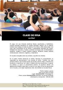 cartel CLASES DE IOGA 28.08.2017